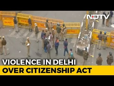 Violence In Delhi Over Citizenship Act, Stones Thrown, Tear Gas Fired