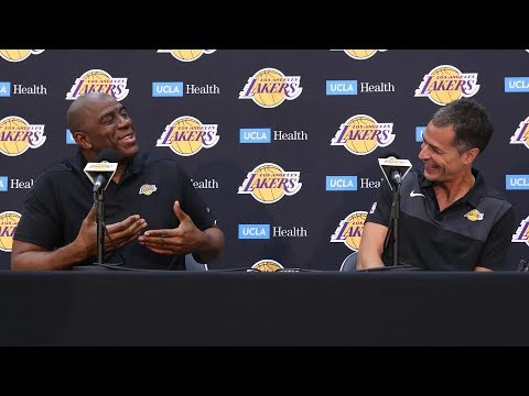 Press Conference : Magic Johnson & Rob Pelinka