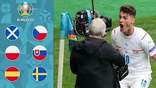 Чехия Шотландия ГОЛИЩЕ с центра поля Польша Словакия мрак Испания Швеция ЕВРО 2020