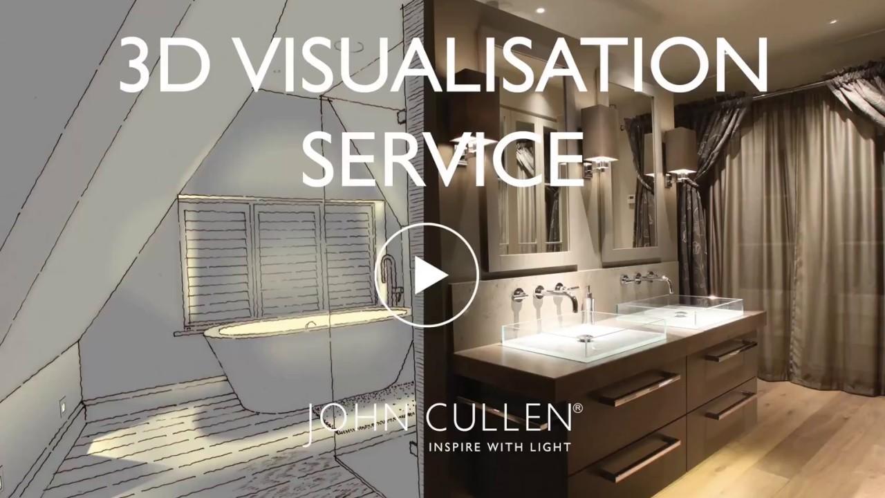 LED Lighting In a Luxurious Modern Bathroom   3D Visualisation   John Cullen Lighting