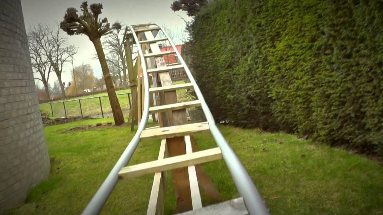 Backyard PVC Rollercoaster 2015 (DIY Project)   YouTube