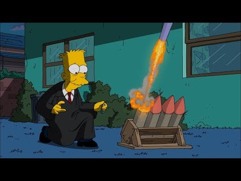 Cartoon Tv Series - Bart's joke when 80 years old
