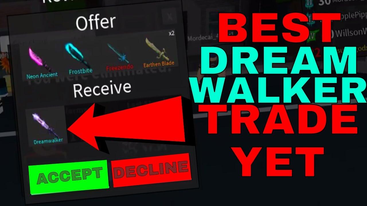 Trades For Roblox Assassin Best Dreamwalker Trade Ever Roblox Assassins Best Trades Ever Youtube