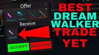 BEST DREAMWALKER TRADE EVER! (ROBLOX ASSASSINS BEST TRADES EVER)