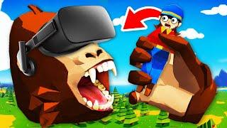 EATING EVERYTHING In Virtual Reality GORILLA SIMULATOR (Growrilla VR Funny Gameplay)