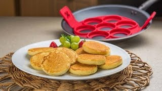 Non Stick Flippin - Fantastic Fast & Easy Way Pancake Maker Egg Cake Ring