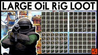 Rust LARGE Oil RiG FiGHT - Eco Raiding RICH CLANS LOOT (Rust Modded Server Raids)