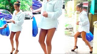 Poonam Pandey SPOTTED Roaming Around On The Street Wearing ONLY Shirt  !