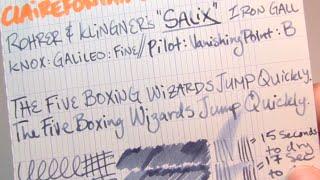 Ink Review: Rohrer & Klingner Salix Iron Gall Ink
