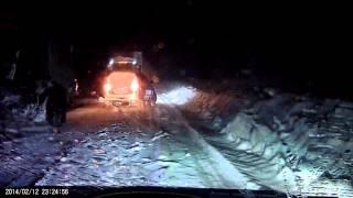 Уфа-Белорецк ,Межгорье.Вечная пробка в снегопад.(, 2014-02-12T20:29:23.000Z)