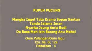 Lagu Sunda dengan Lirik | PUPUH PUCUNG