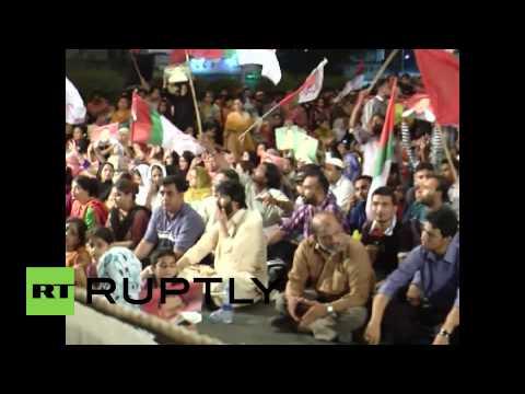 Pakistan: Altaf Hussein supporters rally in Karachi