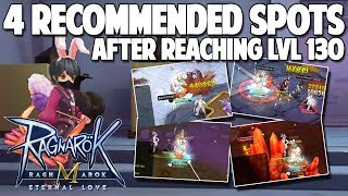 4 RECOMMENDED SPOTS FOR GRINDING IF REACH LVL 130 - RAGNAROK MOBILE SEA
