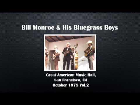 【CGUBA452】 Bill Monroe & His Bluegrass Boys  October 1978