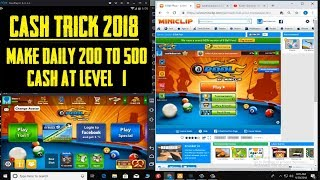 WORKING CASH TRICK 8 BALL POOL 2018 MAKE DAILY 300 CASH EASILY KARAN GAMING