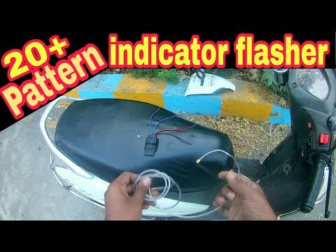 KTM indicator flasher 20+ pattern installation in Honda activa 3g by Creative modification