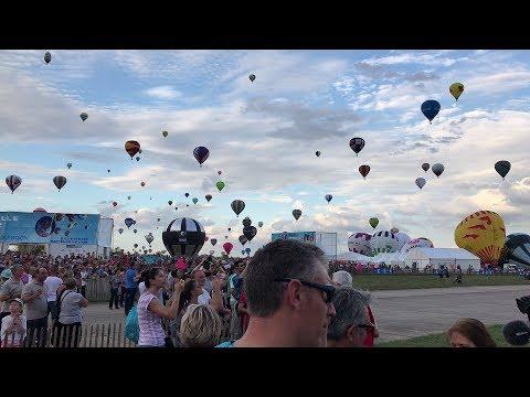 [4K] World air Balloons 2017, take off from Chambley (Lorraine, France) Mondial Air Ballons