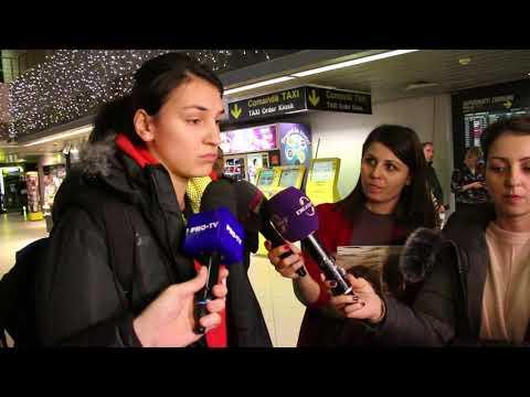 VIDEO Cristina Neagu pe aeroport la întoarcerea naționalei de la Mondiale