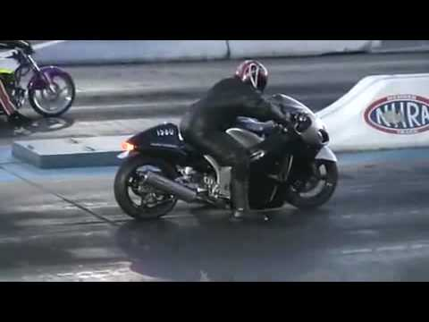 Drag Racing Accident - Big Bike Fly on 300kph