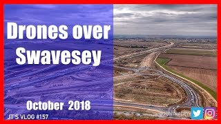 Drones over Swavesey - Building the new A14 - October 2018