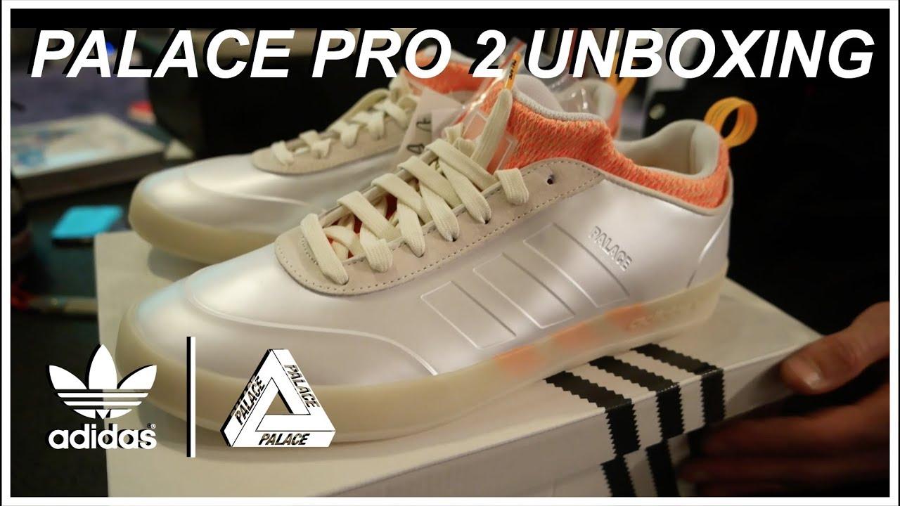 new arrival 312dd ef64d adidas x Palace Pro 2 - Off-White Orange   Black Models   BBASHI UNBOXING