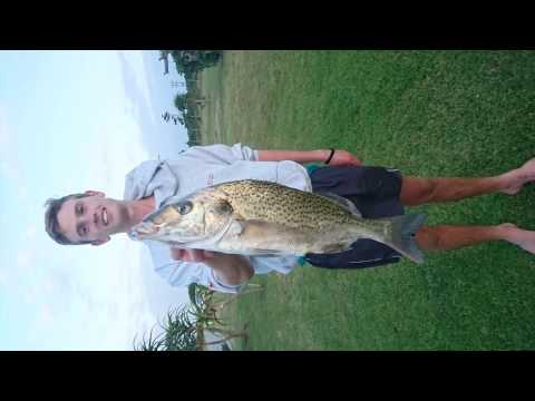 Big Spotted Grunter Fishing In Eastern Cape South Africa On Ski