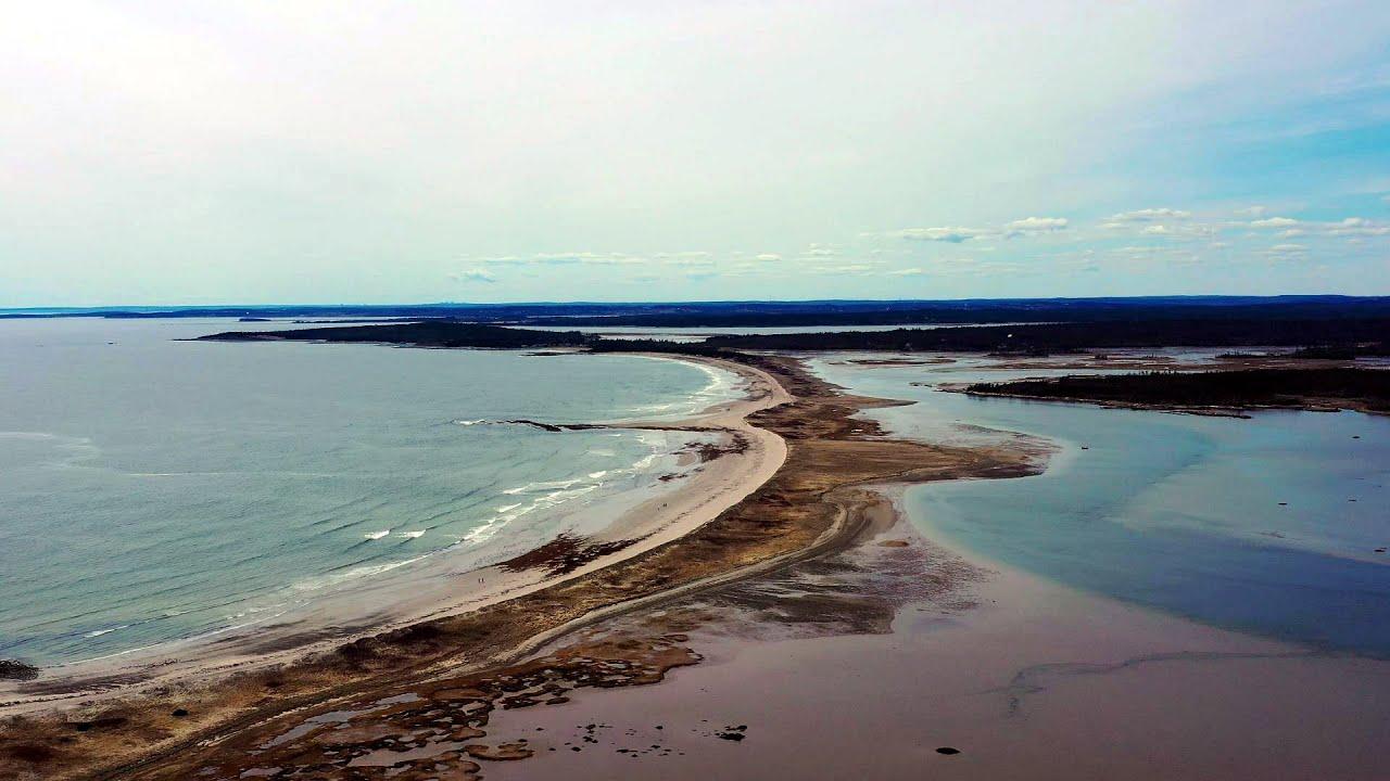 Aerial Views of Martinique Beach, the Longest Sand Beach in Nova Scotia |  Mavic 2 Pro