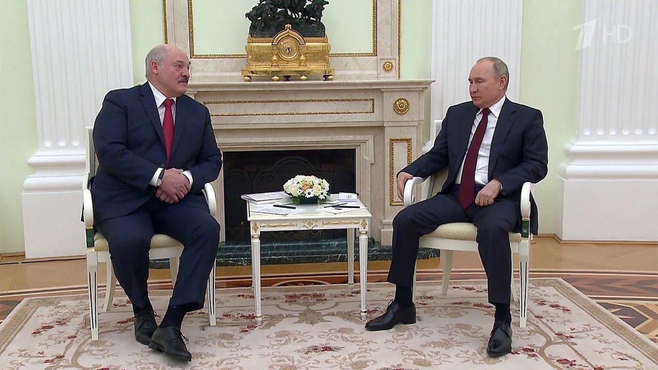 Владимир Путин и Александр Лукашенко в Москве проводят переговоры.