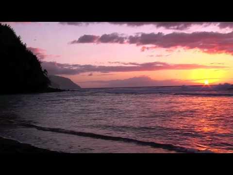 Ke'e Beach Sunset, Kauai Hawaii