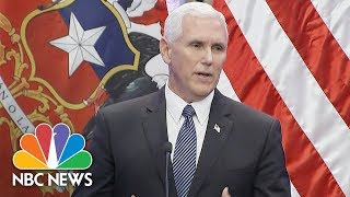 Vice President Mike Pence In Aftermath Of Charlottesville: 'I Stand With The President' | NBC News