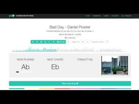 Daniel Powter Bad Day chords