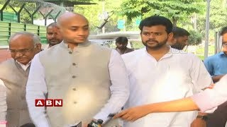 TDP MPs Press Meet From Delhi Over Leaders BJP Joining | ABN Telugu
