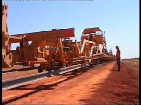 Mechanized track laying Australia 1