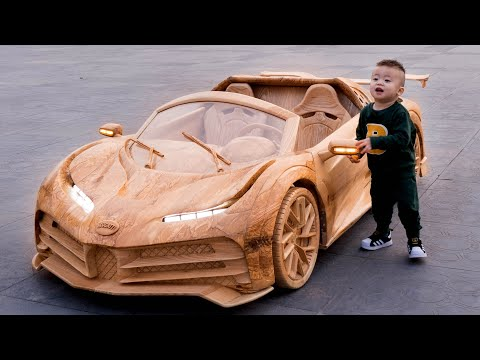 Wood Carving – CR7's Bugatti Centodieci – ND WoodWorking Art