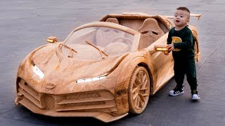 Wood Carving - CR7's Bugatti Centodieci - ND WoodWorking Art