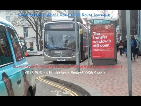 Rosie meets Reading! - Scarlet Route 9 to Whitley Wood | Generic Enviro300 ScaniaK27OUB | YR13 PNK