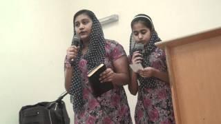 Akku & Ashlin singing at Church YPE-(Yeshu Ne Hame Chudaya).MTS