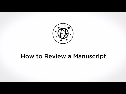 How to Review a Manuscript