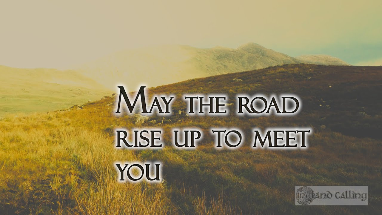may the road rise to meet you notenbalken