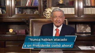 """En un video subido a su cuenta de Twitter, y con un análisis de artículos y columnas en mano, el mandatario dijo que """"nunca habían atacado a un Presidente como ahora"""", desde tiempos de Madero"""