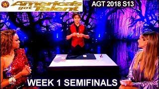 Shin Lim Card Magician Part1 with Heidi &Tyra SENSATIONAL Semifinals 1 America