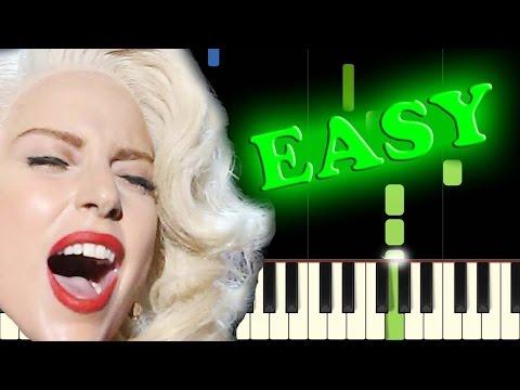 LADY GAGA - DOPE - Easy Piano Tutorial