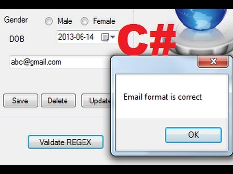 C# Tutorial 82: Using Regular Expressions (regex or regexp) in C#