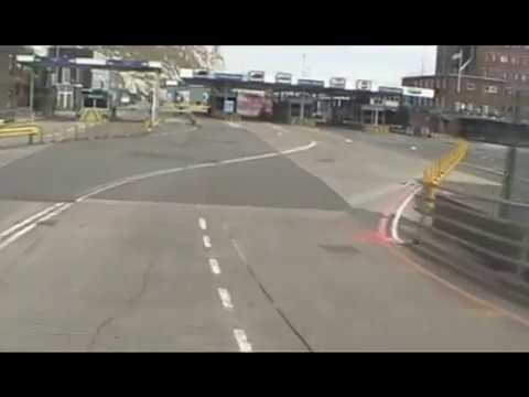 Motorhome guide 1 - Dover ferry terminal, England.