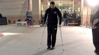 Seth Rollins leaves Raw on crutches: Exclusive, Feb. 1, 2017