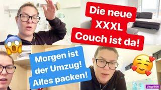 Unsere Neue Couch ist da! l Der Umzug steht bevor l Alles muss gepackt werden! l Vlog 966