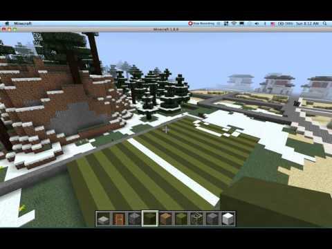 minecraft สอนสร้างสนามกีฬา part1