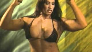 Female Bodybuilder Angela Salvagno Flexing