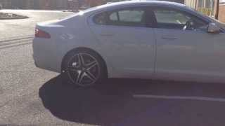 "Jaguar XF sitting on 20"" White Diamond Wheels brought to you by RimTyme of Charlotte Thumbnail"