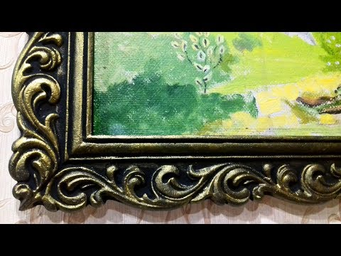 Рамки из потолочных плинтусов своими руками фото
